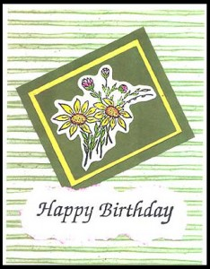 this card was created using the Small Bouquet stamp.