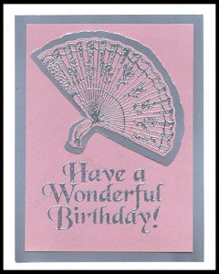 This birthday card was created using two stamps.