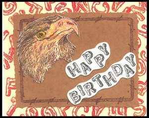 The background and Happy Birthday are created with the Log Alphabet.