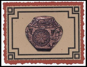 This card was created using the Zuni Pot, Lg. and the Bold Southwest Frame #16.
