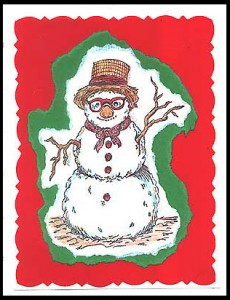 This card was created using Snowman, Lg. stamp.