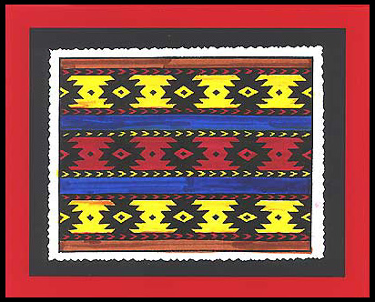 This card was created using the Southwest Indian Blanket stamp.