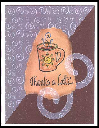 This card is created by stamping with Thanks a Latte stamp.