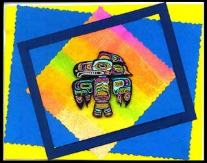 This card was created using the Tlingit Eagle stamp.